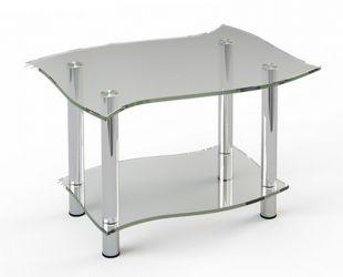 Журнальный стол «JTI 001» 80*60 (Верх прозрачный, низ рисунок)