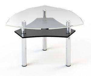 Журнальный стол «JTI 002» 80*80 (Верх прозрачный, низ рисунок)