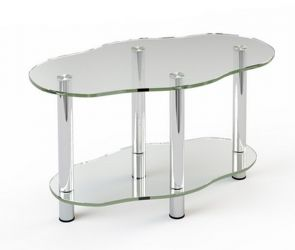 Журнальный стол «JTR 004» 80*45 (Верх прозрачный, низ рисунок)