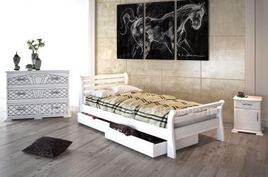 Кровать «Ретро» 90*190 | 2 ящика | белый