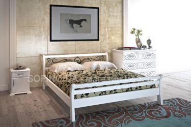 Кровать «Ретро» с ковкой 140*200 | белый