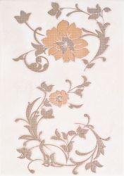 Плитка декор «Aura» 25*35 | цветок: беж