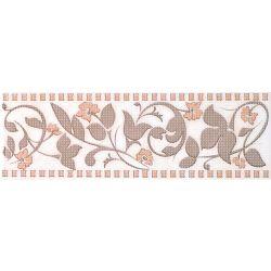 Плитка фриз «Aurora» 8*25 | цветок: беж