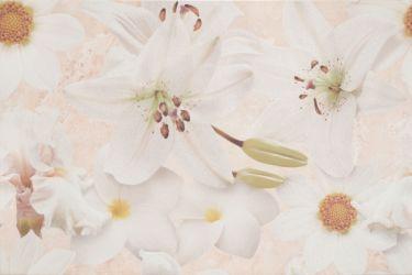 Плитка декор «Alama» 30*45 | беж цветок крем