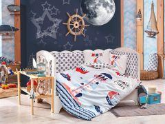 Фото КПБ HOBBY дит. Baby Sailor блакитний 100*150/2*35*45 Hobby - sofino.ua