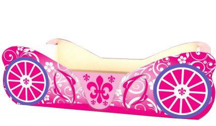 Кровать-машинка «Карета» 60*120 | розовый