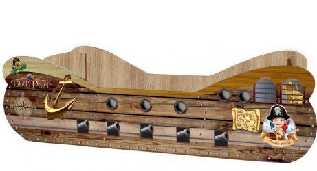 Кровать-машинка «Пиратский корабль» 60*120