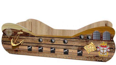 Кровать-машинка «Корабль» 60*120