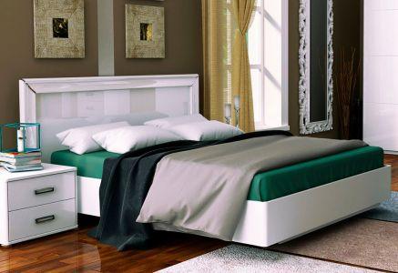 Ліжко - Міромарк - ДСП - Белла рамка - Колір Глянець білий - 160х200 см