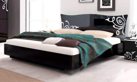 Фото Кровать «Bogema» цвет черный глянец - sofino.ua