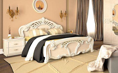 Ліжко двоспальне «Олімпія Беж»