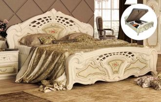Кровать «Реджина» с подъемным механизмом 1,8 | Радика беж