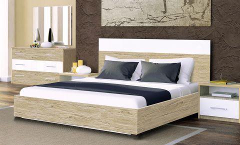 Фото Двуспальная кровать «Соната»   Дуб Сан Марино - sofino.ua