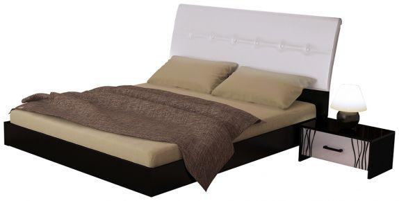 Фото Черная двуспальная кровать «Терра мягкая» - sofino.ua