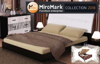 Кровать «Терра (мягкая)» с подъемным механизмом 1,8 | Черный мат