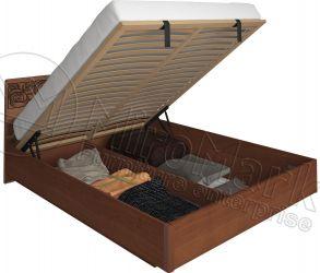 Кровать двуспальная «Флора» с подъемным механизмом 1,6