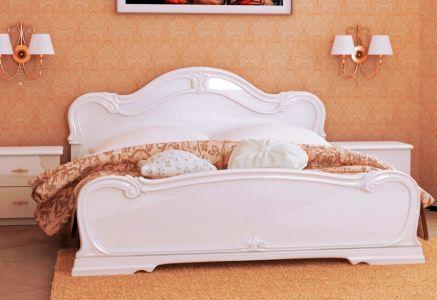 Ліжко для спальні Міромарк Футура ДСП Глянець білий