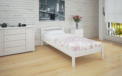 Кровать односпальная Адель | л-109 | 90*190 | белый
