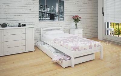 Кровать односпальная Адель | л-109 | 90*190 | с ящиками | белый