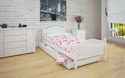 Кровать односпальная Валери | л-108 | 80*190 | с ящиками | белый