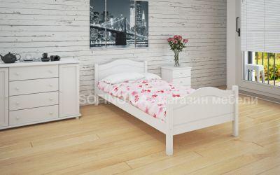 Кровать односпальная Валери | л-108 | 80*200 | белый