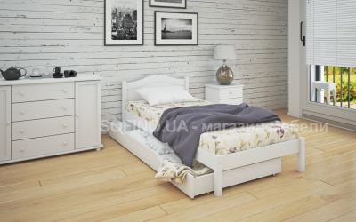 Кровать односпальная Луиза | л-104 | 80*200 | с ящиками | белый