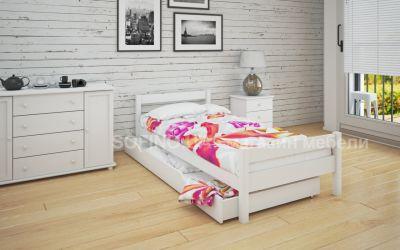 Кровать односпальная Мелиса | л-120 | 80*190 | с ящиками | белый