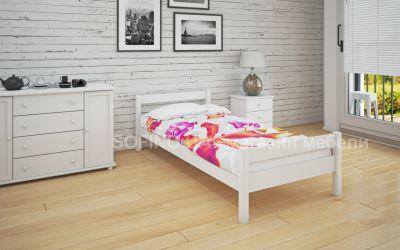 Кровать односпальная Мелиса | л-120 | 80*200 | белый