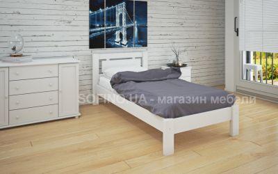Кровать односпальная Олимпия | л-110 | 80*200 | белый