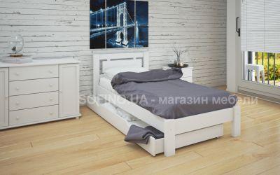 Кровать односпальная Олимпия | л-110 | 80*190 | с ящиками | белый