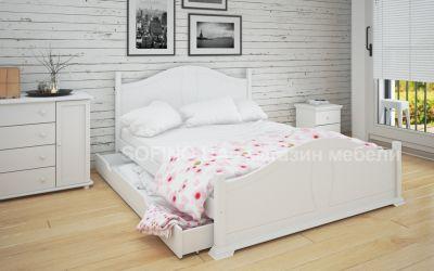 Кровать двуспальная Изидора | л-203 | 160*200 | с ящиками | белый
