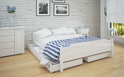 Кровать двуспальная Валери | л-201 | 120*190 | с ящиками | белый