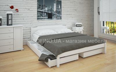 Кровать двуспальная Луиза | л-206 | 120*190 | с ящиками | белый