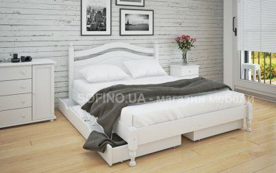 Кровать двуспальная Люси | л-208 | 140*190 | с ящиками | белый