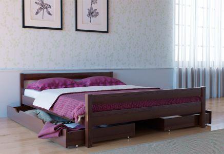 Ліжко двоспальне Скіф Дерево Л-220 - Колір на вибір