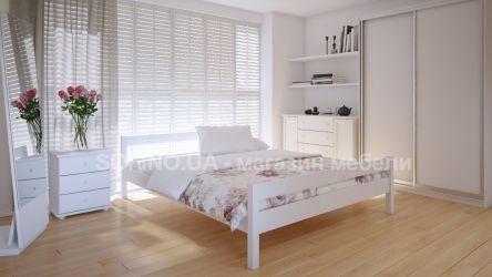 Кровать двуспальная Мелиса | л-220 | 120*190 | белый