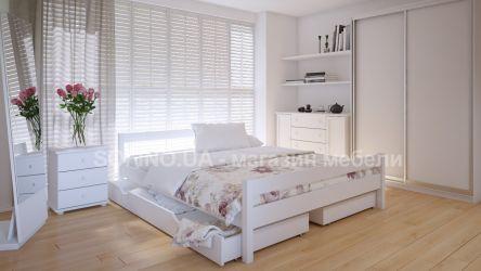 Кровать двуспальная Мелиса | л-220 | 120*190 | с ящиками | белый