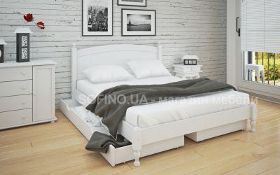 Кровать двуспальная Мэрджори | л-207 | 140*190 | с ящиками | белый