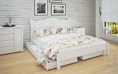 Кровать двуспальная Орианна | л-218 | 140*190 | с ящиками | белый