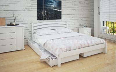 Кровать двуспальная Стефани | л-211 | 120*190 | с ящиками | белый