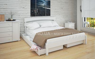 Кровать двуспальная Элиза | л-214 | 120*190 | с ящиками | белый