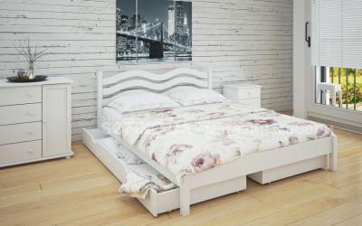 Кровать двуспальная Эстель | л-216 | 120*190 | с ящиками | белый