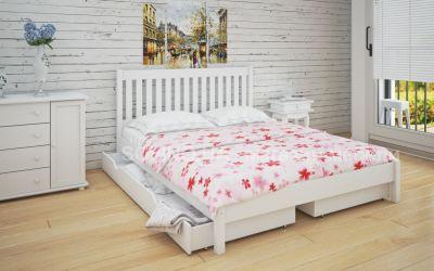 Кровать двуспальная Джоси | л-202 | 120*190 | с ящиками | белый