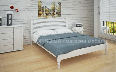 Кровать двуспальная Лакрес | л-204 | 120*190 | белый
