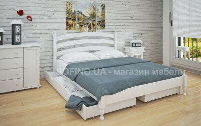 Кровать двуспальная Лакрес | л-204 | 120*190 | с ящиками | белый