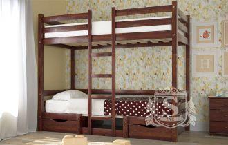 Фото Кровать двухъярусная «Л-304» 90*200 | с 2 ящиками - sofino.ua