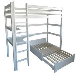 Кровать двухъярусная «Л-305» 90*200 | белый