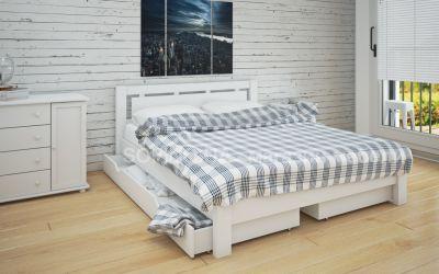 Кровать двуспальная Олимпия | л-210 | 120*190 | с ящиками | белый