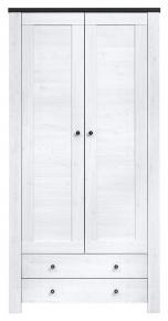 Шкаф платяной 2D2S «Антверпен» Ясень снежный | Дуб Шеффилд