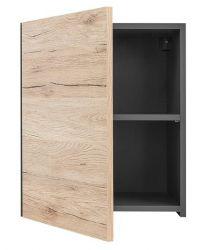Шкафчик навесной SFW1D/45_L «Моден» Серый вольфрам | Дуб Санремо светлый
